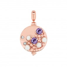 Serene Seashore Rose Aromatherapy Locket Charm