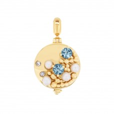 Serene Seashore Gold Aromatherapy Locket Charm