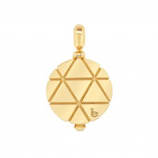 Ornate Triangle Pattern Gold Aromatherapy Locket Charm