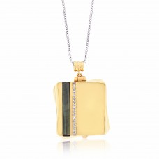 Cocoon Contemporary Twisted Gold Aromatherapy Locket Necklace