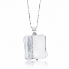 Cocoon Contemporary Twisted Silver Aromatherapy Locket Necklace