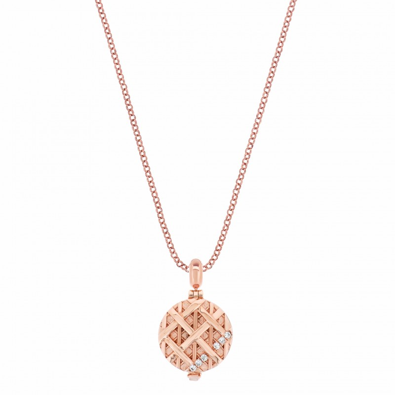 Twine Knot Rose Gold Vermeil Aromatherapy Solid Perfume Locket Charm