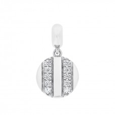 Cocoon Single Tube Silver Love Charm