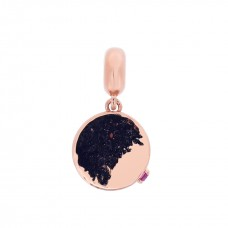 Cocoon Hammer Texture Rose Love Charm