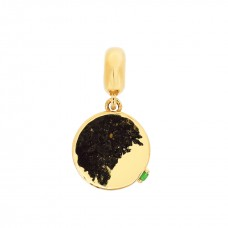 Cocoon Hammer Texture Gold Love Charm