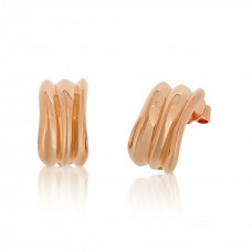 Cocoon Wave Pure Rose Earrings
