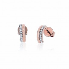 Cocoon Stacking Sparkler Rose Earrings