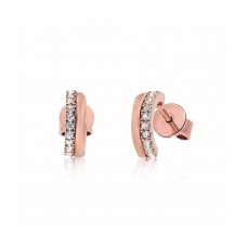 Cocoon Stacking Tiles Sparker Rose Earrings