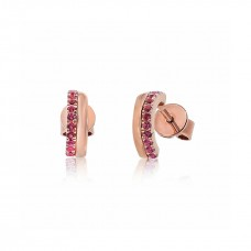 Cocoon Stacking Tiles Precious Pink Sapphire Earrings