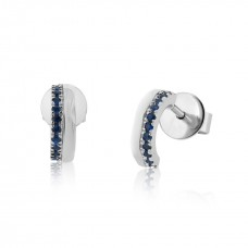 Cocoon Stacking Tiles Precious Blue Sapphire Earrings