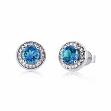Cocoon Voguish Gems Sky Blue Topaz Earrings