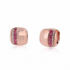 Cocoon Precious Bold Pink Sapphire Earrings