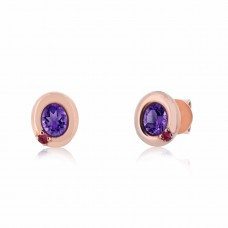 Cocoon Stacking Gems Amethyst Earrings