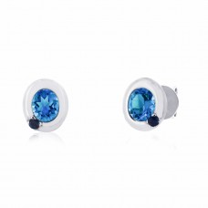 Cocoon Stacking Gems Sky Blue Topaz Earrings