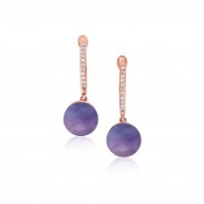 Cocoon Doublet Amethyst Earrings