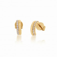 Cocoon Stacking Sparkler Gold Earrings