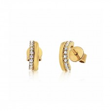 Cocoon Stacking Tiles Sparker Gold Earrings