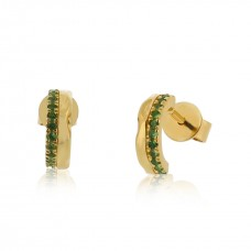 Cocoon Stacking Tiles Precious Tsavorite Earrings