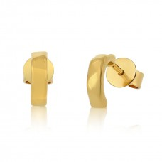 Cocoon Stacking Pure Gold Earrings