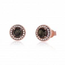 Cocoon Voguish Gems Smoky Topaz Earrings