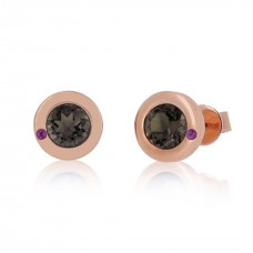 Cocoon Essence Gems Smoky Topaz Earrings