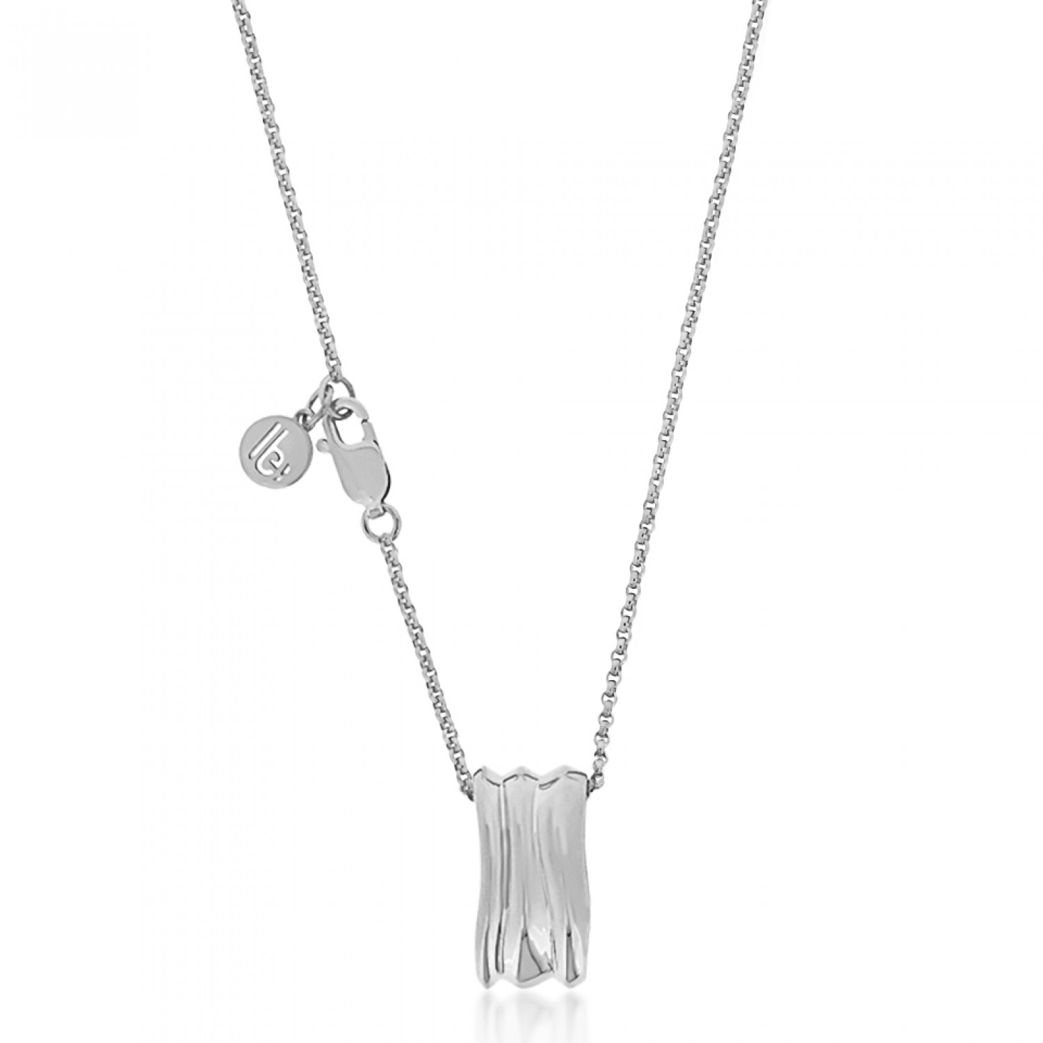Cocoon Wave Pure Silver Necklace