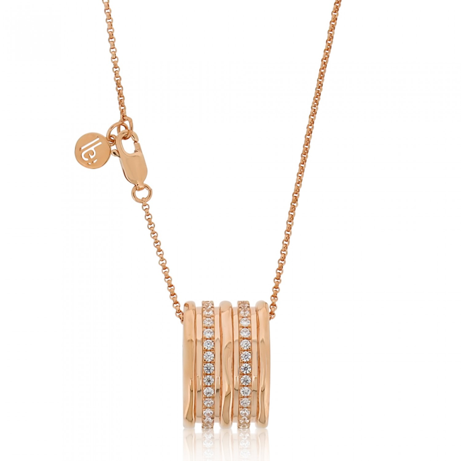 Cocoon Wave Sparkler Rose Necklace