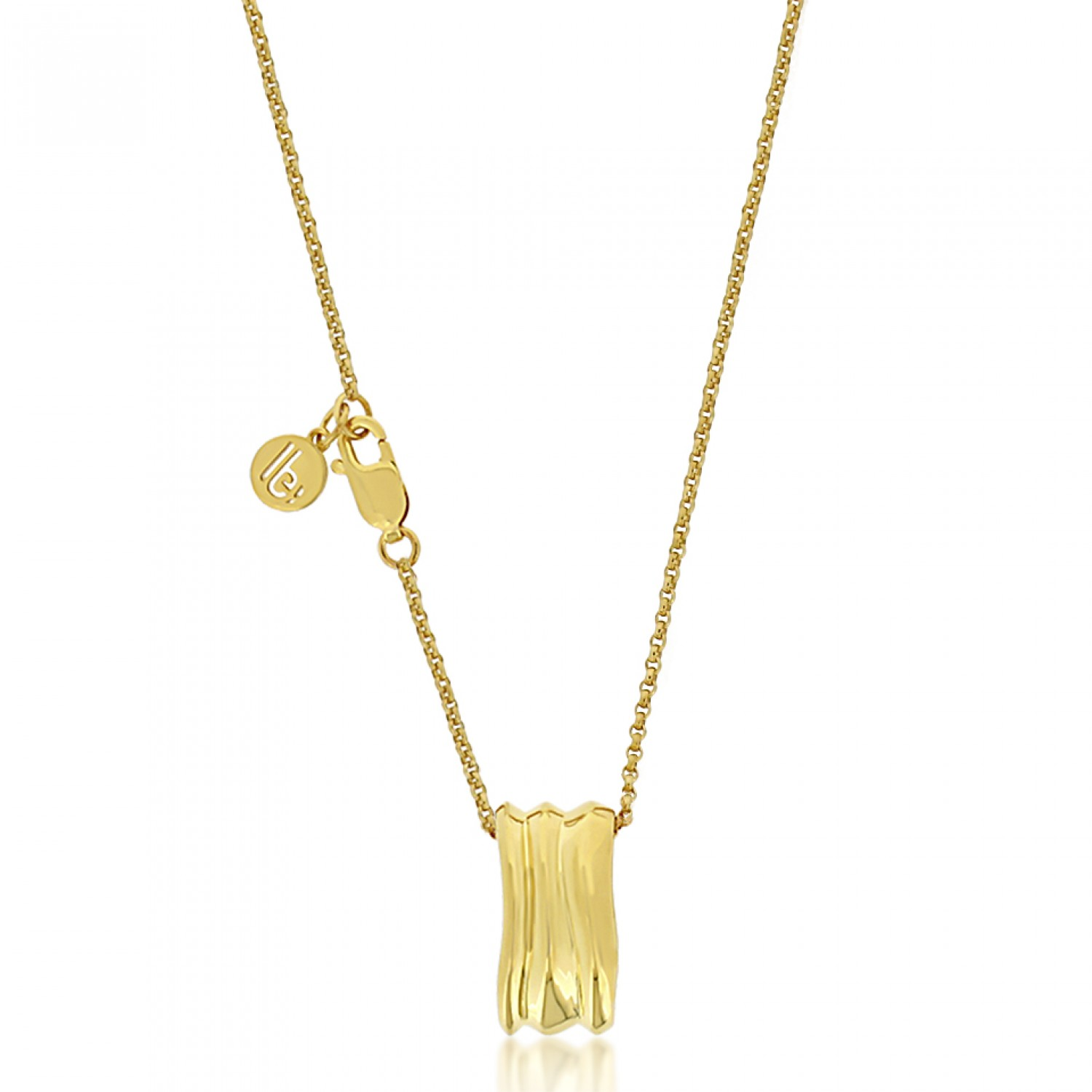 Cocoon Wave Pure Gold Necklace