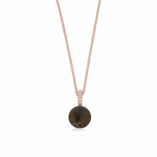 Cocoon Doublet Smoky Quartz Necklace