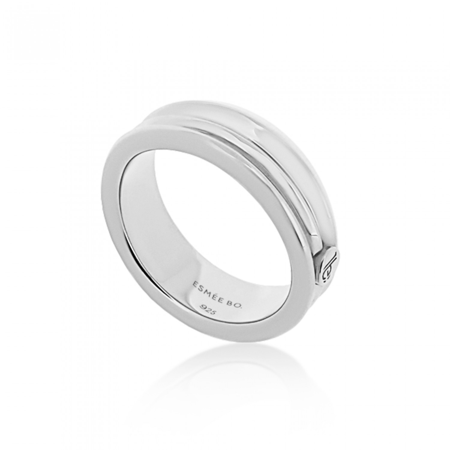 Cocoon Wave Pure Silver Ring
