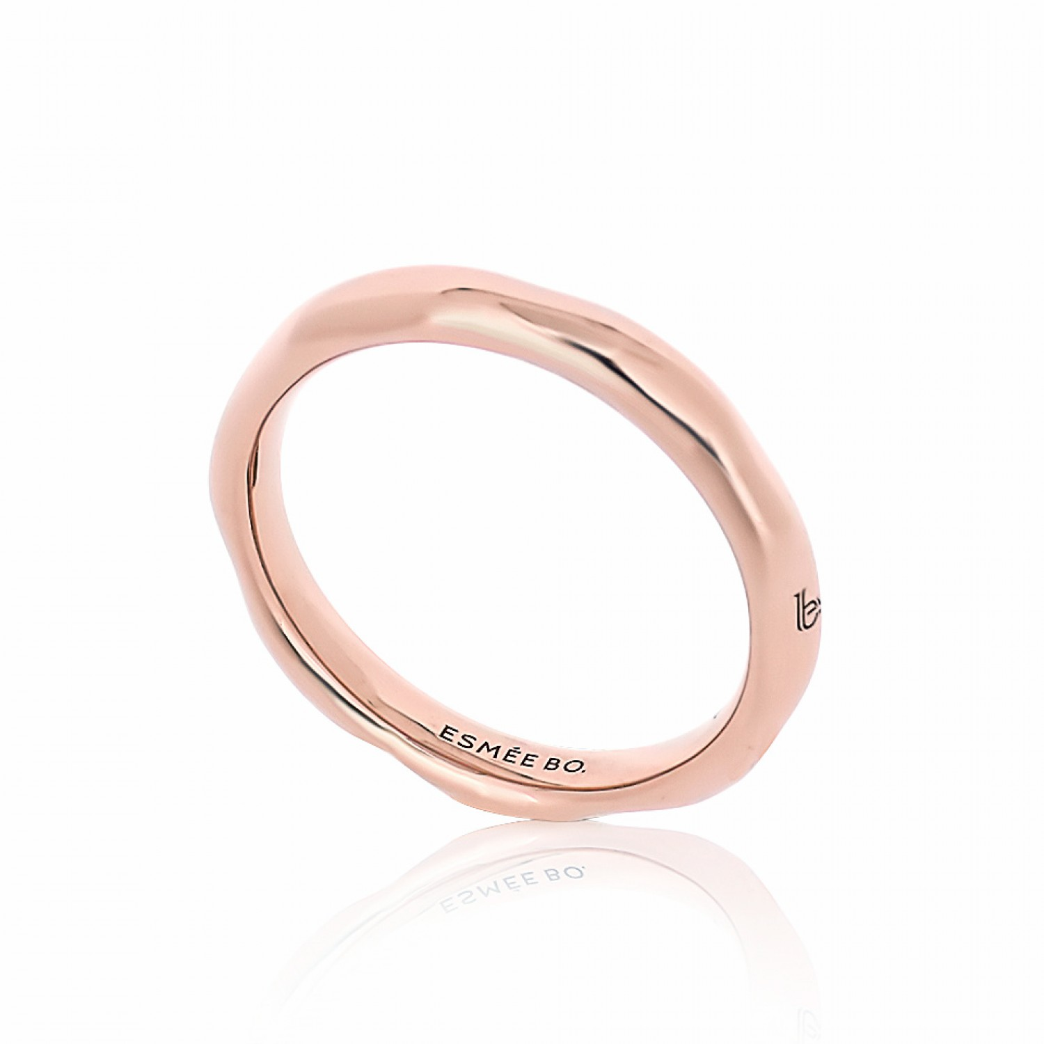 Cocoon Stacking Pure Rose Ring