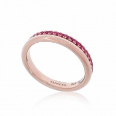 Cocoon Stacking Precious Pink Sapphire Ring