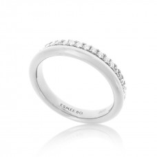 Cocoon Stacking Sparkler Silver Ring