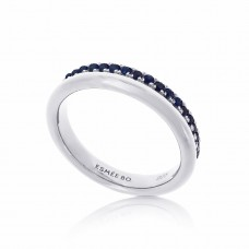 Cocoon Stacking Precious Blue Sapphire Ring