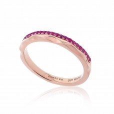 Cocoon Stacking Tiles Precious Pink Sapphire Ring