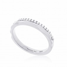 Cocoon Stacking Tiles Sparker Silver Ring