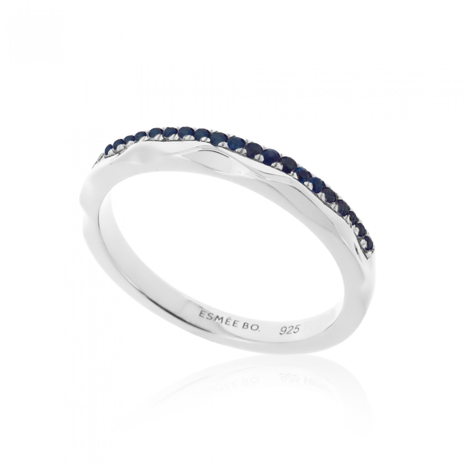 Cocoon Stacking Tiles Precious Blue Sapphire Ring