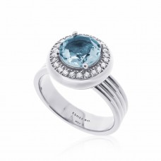 Cocoon Voguish Gems Sky Blue Topaz Ring