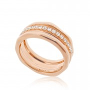 Cocoon Wave Sparkler Rose Ring