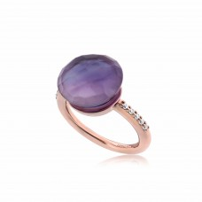 Cocoon Doublet Amethyst Ring