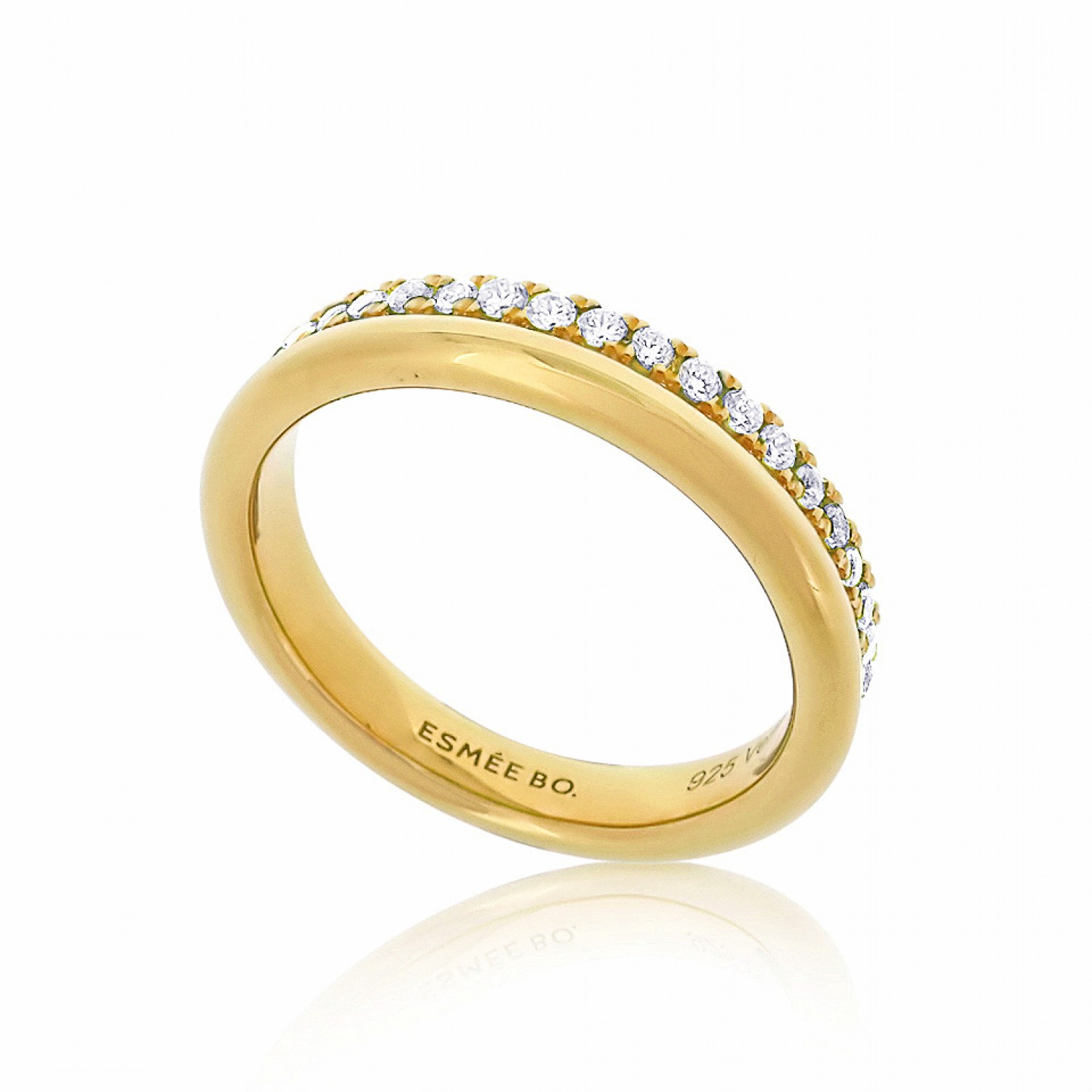 Cocoon Stacking Sparkler Gold Ring