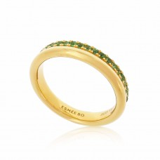 Cocoon Stacking Precious Tsavorite Ring