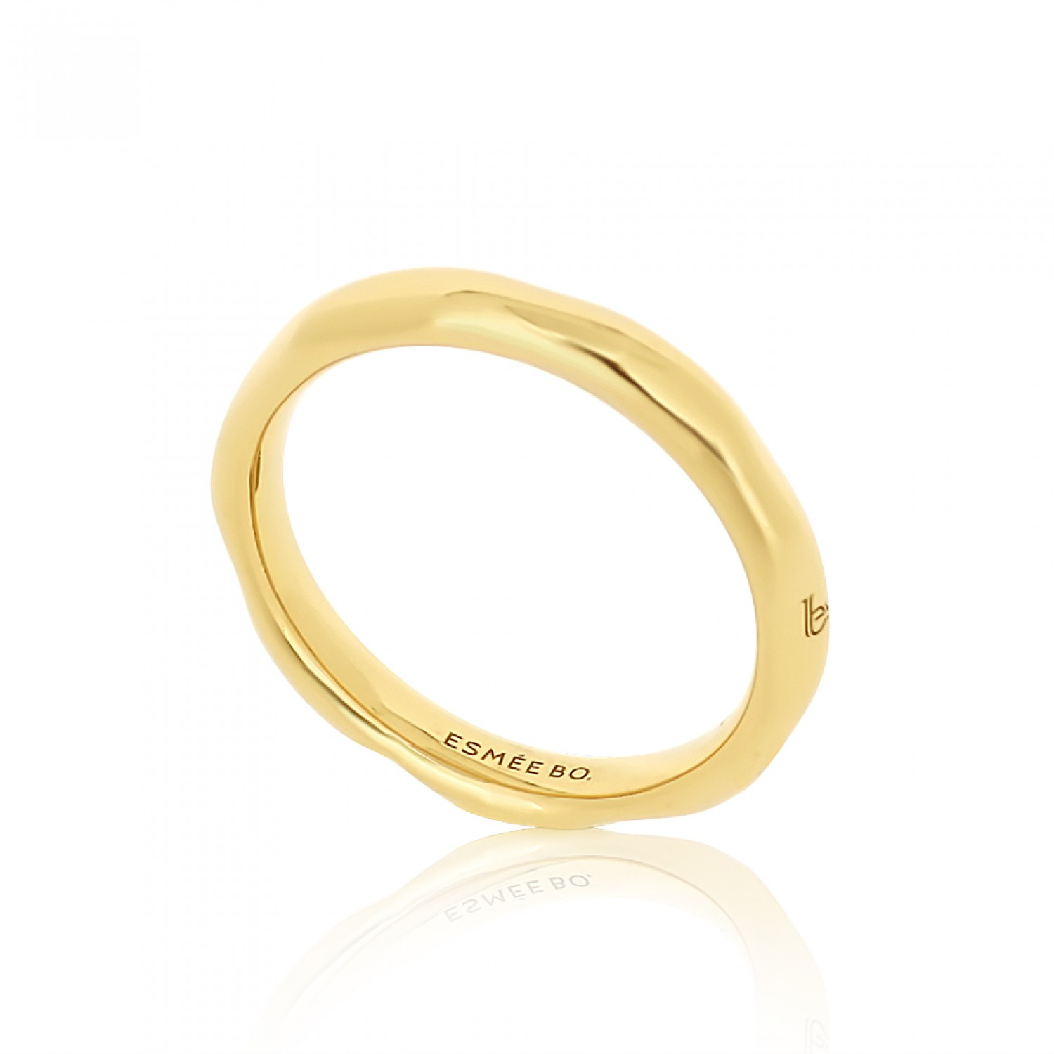 Cocoon Stacking Pure Gold Ring