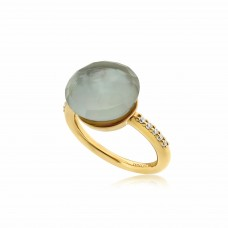 Cocoon Doublet Green Amethyst Ring