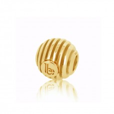 Round Striped Gold Embellishment