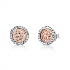 Jardin Magnolia Motif Rose Earrings