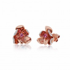 Jardin Magnolia Precious Rose Earrings