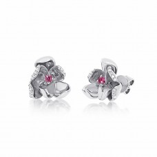 Jardin Magnolia Precious Silver Earrings