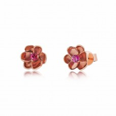 Jardin Magnolia Blossom Rose Earrings