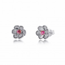 Jardin Magnolia Blossom Silver Earrings